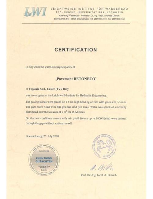 Certification Betoneco