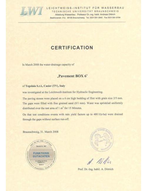 Certification BOX