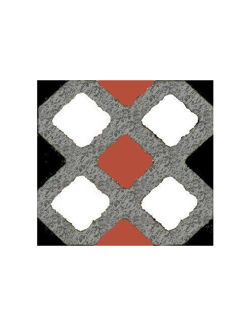 Pratoverde grigio quadretto-riga bianco
